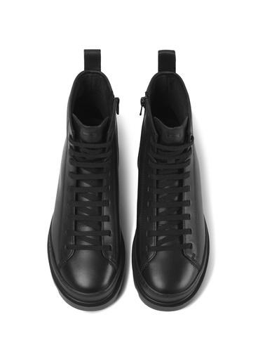 Camper K400325004 Brutus Kadın Bağcıklı Deri Günlük Ayakkabı Siyah